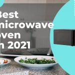 Close up of a microwave oven in the kitchen